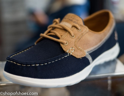 Skechers Gowalk laced deck shoe.